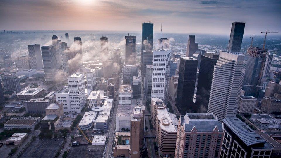 Drohnenansicht einer Stadt Puzzle
