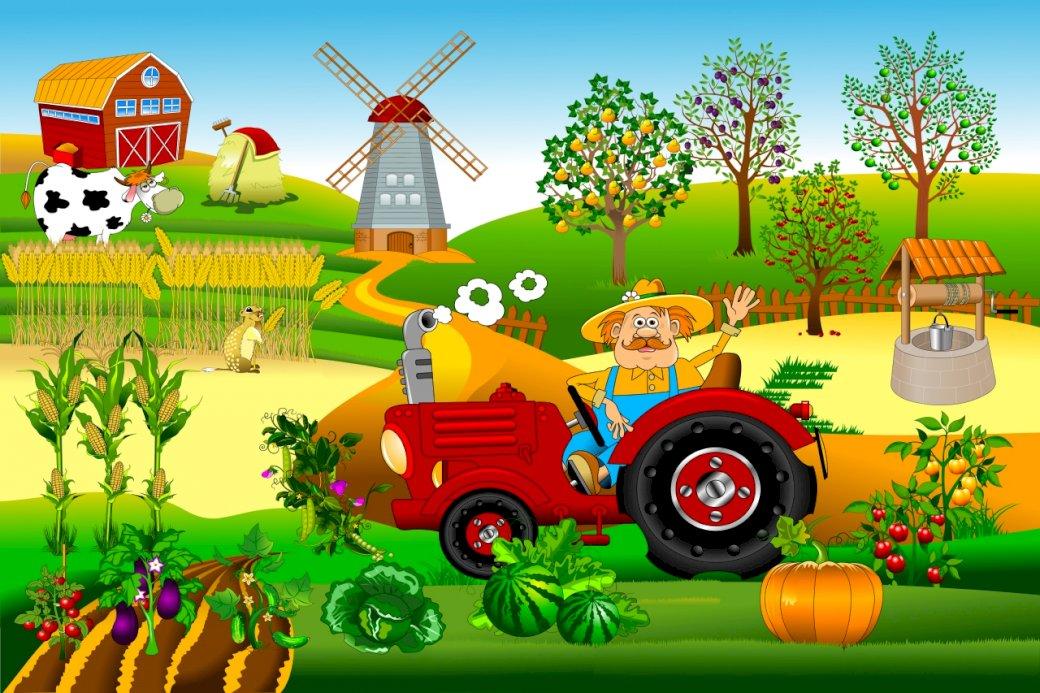 Praca rolnika na wsi