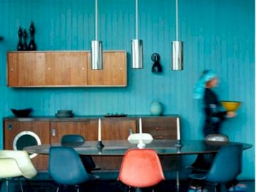 Cucina insolita - Cucina con accento blu, arrangiamenti