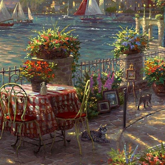 Malerei - Malerei. Am Meer (10×10)