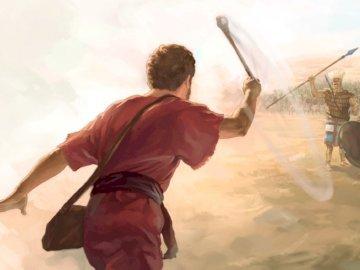 David and Goliath - David and Goliath. David's fight