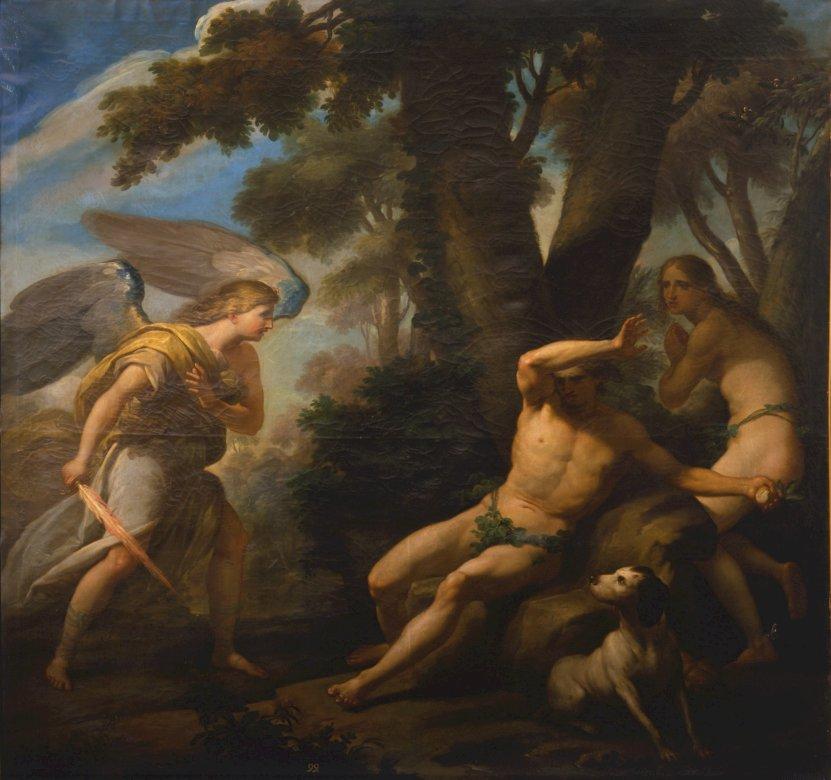 Adam und Eva - Rätsel für Kinder, Ungehorsam, Sünde und Verantwortung im Bereich der katholischen Religion aus künstlerischer Sicht zu üben (7×6)
