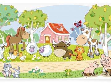 Zwierzęta na wsi - puzzle dla dzieci przedstawiające zwierzęta na wsi