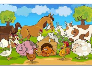 Zwierzęta na wsi - Zwierzęta na wsi, zadanie dla dzieci