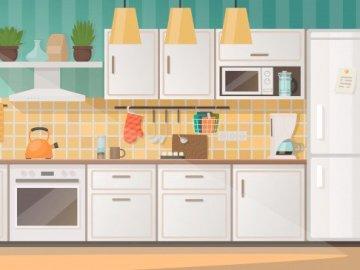 """sprzęt na prąd w kuchni - """" W krainie elektryczności"""" - sprzęt na prąd w kuchni - puzzle dla przedszkolaków"""