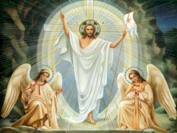 Zmartwychwstanie Pana Jezusa - Puzzle przedstawiają scenę zmartwychwstania Pana Jezusa