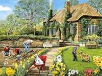 Wiosna w ogrodzie.