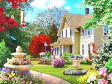 A detached house. - Single-family housing.