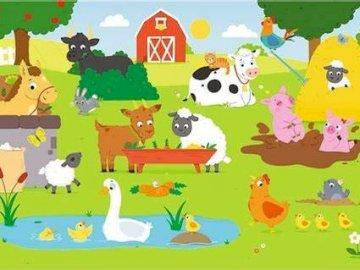 zwierzątka na wsi - Ułóż puzzle ze zwierzętami