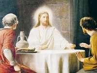 Jesús resucitado se aparece a sus discípulos. - Jesús con sus discípulos en Emaús