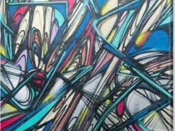 Graffiti . - Obraz graffiti                                 .