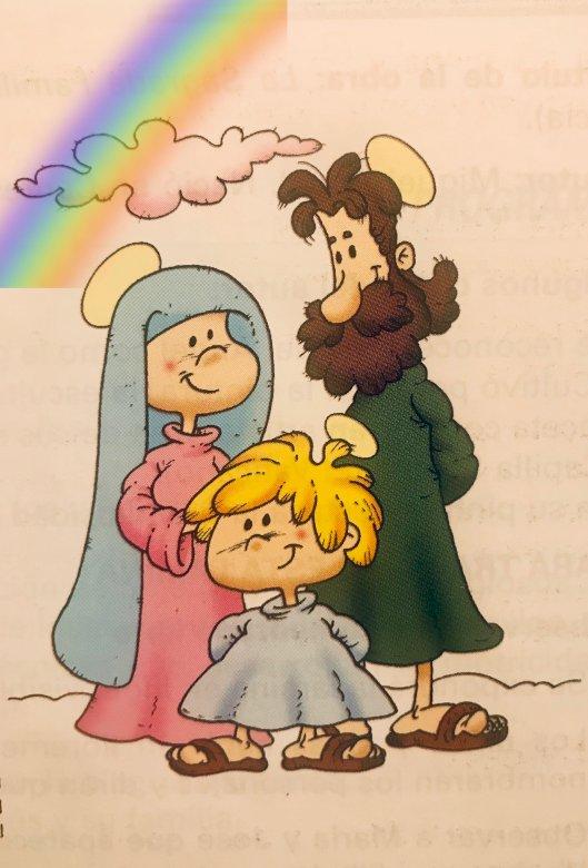 Jesus Familie - Puzzle für Kinder der frühkindlichen Bildung. Es ermöglicht ihnen, Jesus zu identifizieren und die Familie im Bereich der Religion zu schätzen (4×4)