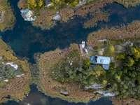 A légi felvétel a sziget