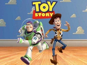 Spielzeuggeschichte - Das Bild zeigt die Figuren aus Toy Story-Märchen