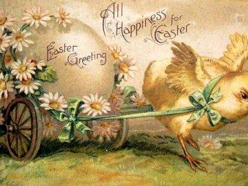 Osterkarte. - Wielkanocna kartka