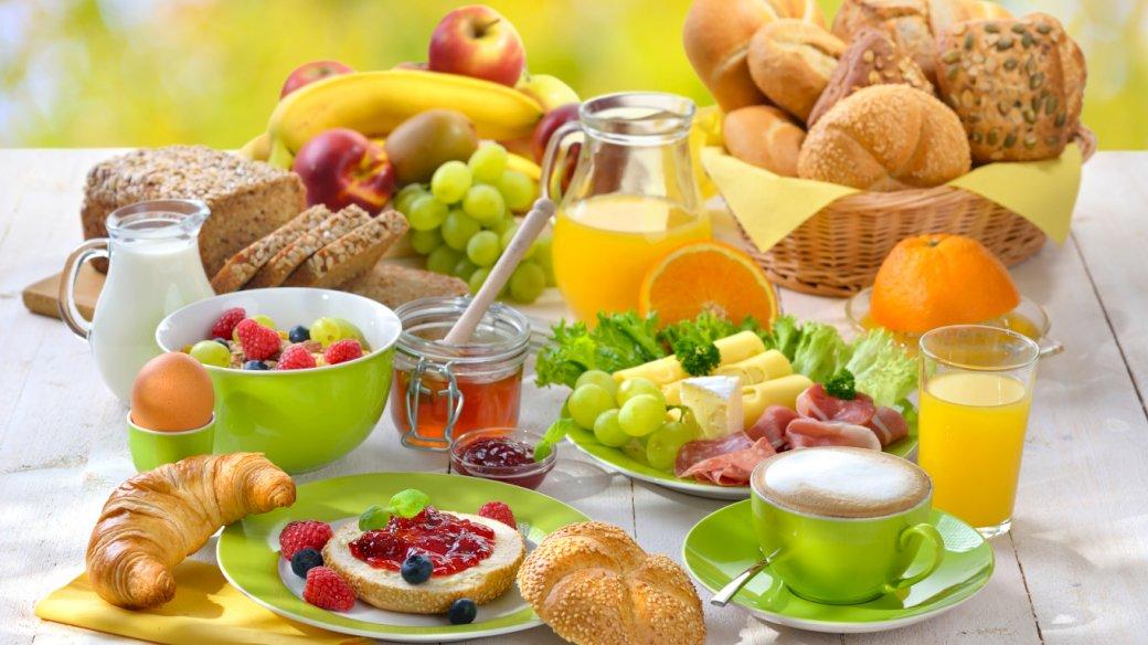 Colazione, pane, succo di frutta, caffè - Colazione, pane, caffè, succo di frutta, frutta (8×8)