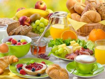Breakfast, Bread, Juice, Coffee - Breakfast, Bread, Coffee, Juice, Fruit