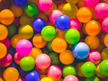 Kolorowe piłki - Puzzle dla dzieci, kolorowe piłki