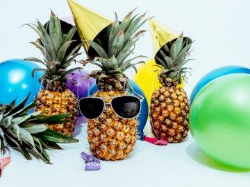 Ananasy w okularach - Puzzle dla dzieci, ananasy w ogularach