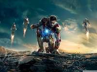 Super hero - this iron man from the movie iron man 3 fights ultron