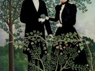 Sztuka, kobieta i mężczyzna - Elegancka kobieta i mężczyzna, puzzle sztuka