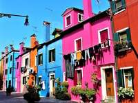 Island in Venice, Italy - Burano is an Italian island located on the Venetian Lagoon. The island is about 7 km from Venice. Th