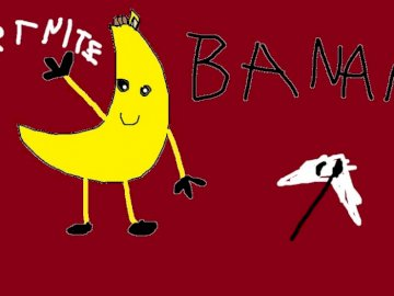 bananek paint - to bananek z fortnite w paint