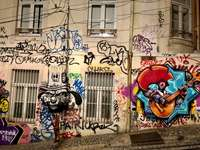Colorful graffiti. - Assorted-color graffiti.