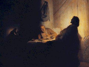 Le souper à Emmaüs - le souper à Emmaüs - Rembrandt