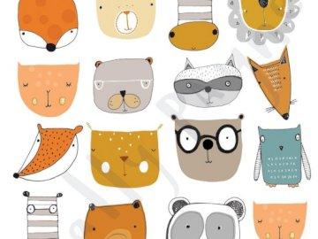 ilustracja słodkich zwierzaków - to jest ilustracja słodkich zwierzaków :3