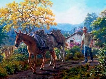 In un villaggio di montagna. - Puzzle di paesaggio.