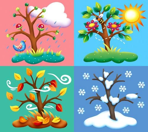 Seasons - Compose the puzzle and find out what it looks like (2×2)