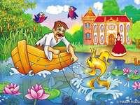 Bajkapuzzle - Puzzels illustreren de inhoud van het sprookje van A. Pushkin.