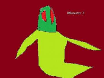 mostro 2 - Questo è il mostro n. 2 con vernice