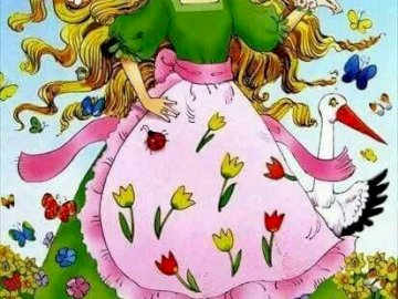 primavera - educazione speciale - educazione speciale per bambini di primavera signora puzzle