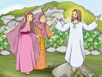 Jésus est vivant - Disposez les puzzles selon l'image de la 2ème diapositive