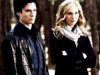 Damon y Caroline - Damon y Caroline de la serie Vampire Diaries