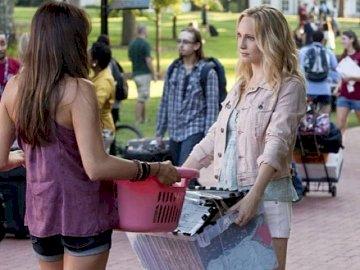 Elena and Caroline - Elena and Caroline from the Vampire Diaries series