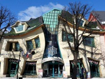 Casa storta a Sopot - Casa storta a Sopot, architettura,
