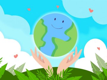 Earth Day - Children's puzzle on Earth Day themes.