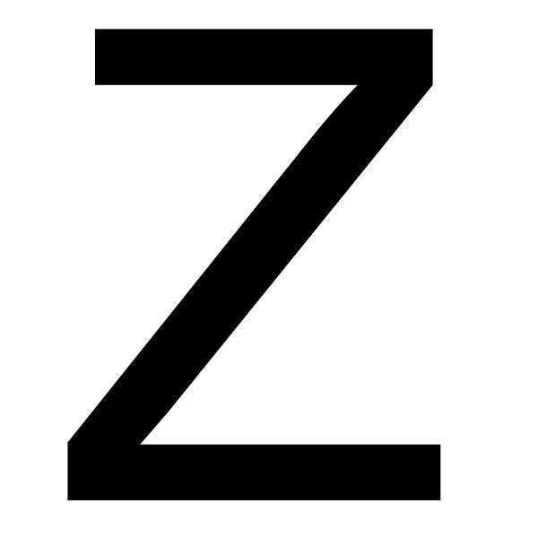 letter Z - capital letter Z, alphabet (4×3)