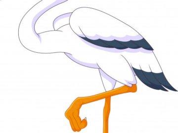 Der Storch - Stellen Sie Ihren STORK zu einem BIPEDE-Tier zusammen, das fliegt