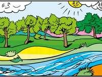 Fiume pulito - Puzzle: fiume pulito, ambiente pulito