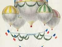 Podniebne balony na płótnie