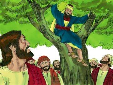 Zacchaeus and Jesus - Zacchaeus' conversion in Jericho Why did Jesus stay with Zacchaeus?. Jesus' meeting