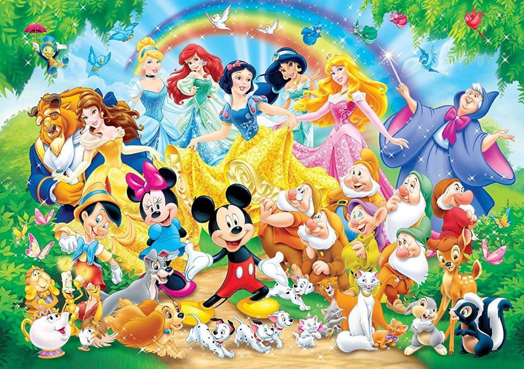 Personaje Disney - Puzzle Disney cu diverse personaje (10×10)