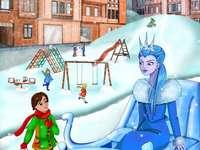 Heróis de conto de fadas - Quebra-cabeça representam os heróis dos contos de fadas