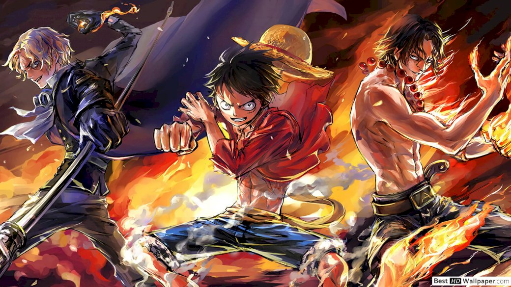 One Piece Three Brothers Luffy Ace Sabo Play Jigsaw Puzzle For Free At Puzzle Factory