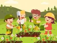 работа в градината