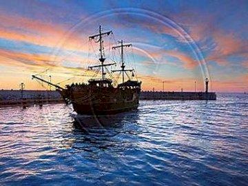 statek pirat - Statki taki jak ten to marzenie mojego brata